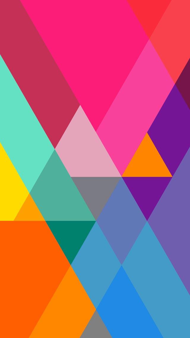 純色的幾何圖形完美的色彩搭配簡潔壁紙