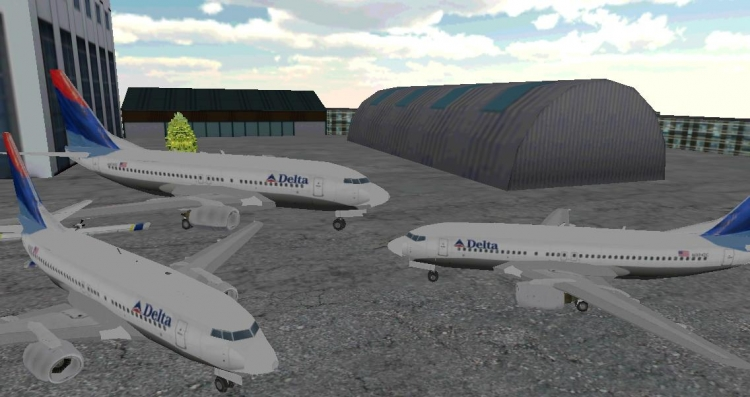 飞机飞行员安全地通过机场的交通