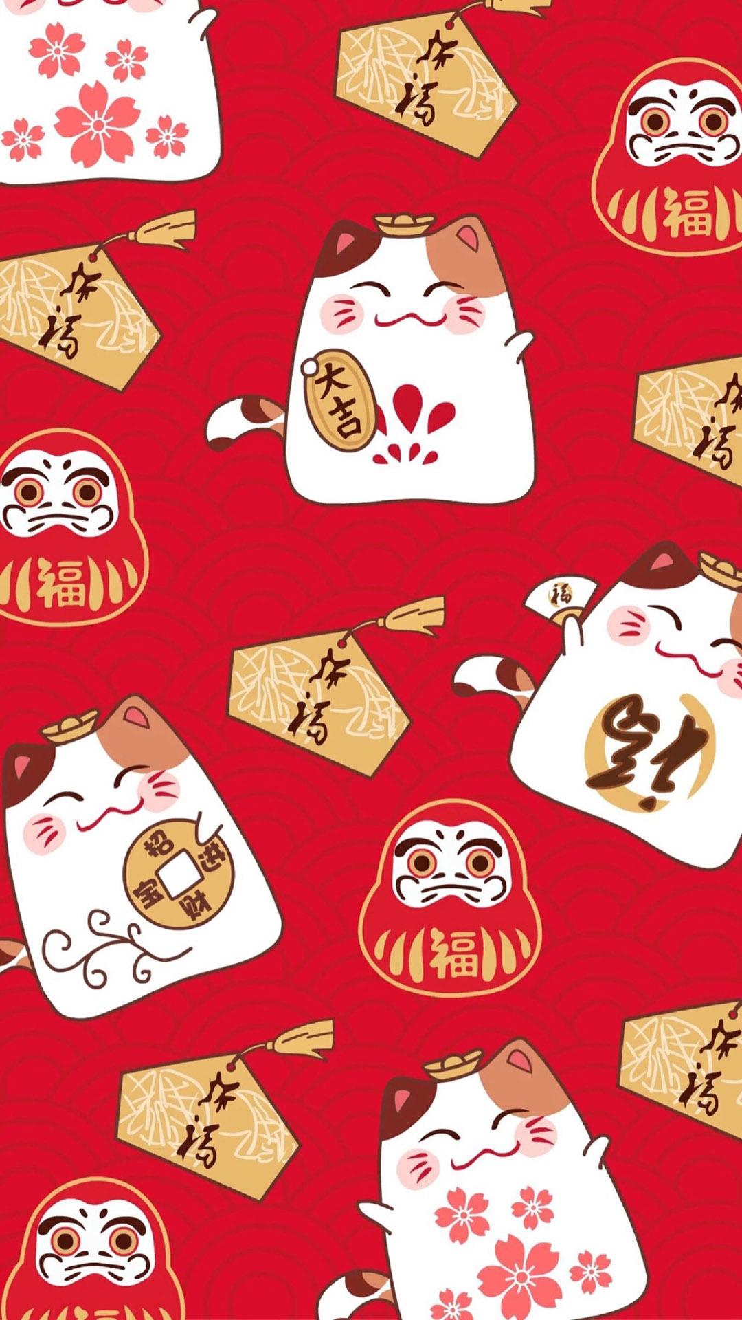 「资源组」超可爱的招财猫【9p】-主题壁纸-flyme社区